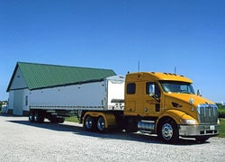 Model 377 Peterbilt tractor and 40 foot timpte trailer