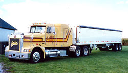 Ford single axle tractor and 32 foot semitrailer