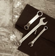 tools with snowflakes